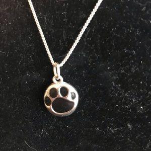 Jewelry - Cute paw print necklace earrings.
